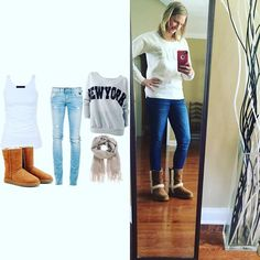 It's sweatshirt & ugg season here Yall! - I ain't even mad today's #pinneditthriftedit // sweatshirt from @americaneagle $10 - jeans #thrifted #goodwill by #express $4.99 - #ugg from @saksoff5th - Yall these are the NEW uggs that just came out waterproof & new metal tag on the back & I'm super pumped at how much $$$ I saved - @saksoff5th has the best prices around on uggs! There were just a little over $100