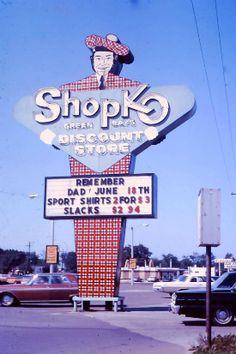 ShopKo Discount Store sign, Green Bay, Wisconsin, 1962
