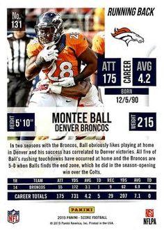 2015 Score #131 Montee Ball Back