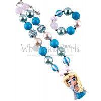 Chunky Bubblegum Necklace and Bracelet Set Elsa Inspired