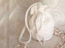 Brautbeutel / Brauttasche mit Perlen, Hochzeit, Heirat, Häkelanleitung