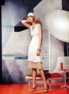 Photographer Craig McDean for US Vogue Image Via: Retty Priddle  #White
