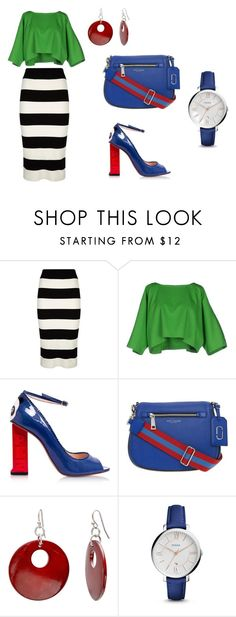 United colors of style by lisa-elijah on Polyvore featuring Maison About, Milly, Camilla Elphick, Marc Jacobs, FOSSIL and Mixit