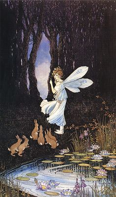 ≍ Nature's Fairy Nymphs ≍ magical elves, sprites, pixies and winged woodland faeries - Ida Rentoul Outhwaite