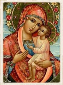 """The Holy Gospel according to Luke ✝📖✝📖✝ While Jesus was speaking, a woman in the crowd raised her voice and said to him, """"Blessed is the… Religious Images, Religious Icons, Religious Art, Catholic Religion, Catholic Art, Blessed Mother Mary, Blessed Virgin Mary, Virgin Mary Art, Hail Holy Queen"""