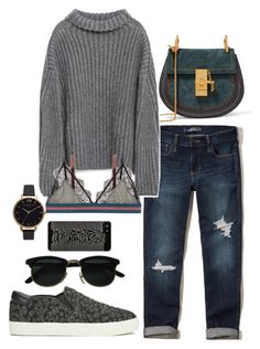 """""""cozy day"""" by veronicagnzlz ❤ liked on Polyvore featuring Chloé, Hollister Co., Zara, Olivia Burton, LoveStories, ootd and Tuesdaymood"""