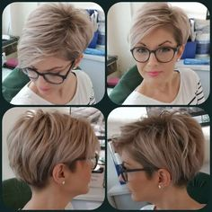 Long pixie hairstyles are a beautiful way to wear short hair. Many celebrities are now sporting this trend, as the perfect pixie look can be glamorous, elegant and sophisticated. Here we share the best hair styles and how these styles work. Modern Short Hairstyles, Short Hair Styles Easy, Easy Hairstyles For Long Hair, Short Hair Cuts, Curly Hair Styles, Hairstyle Short, Thin Hairstyles, Pixie Cuts, Hairstyle Ideas