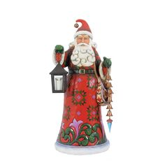 Santa with jingle bells and light up lantern 100028184 (2012)