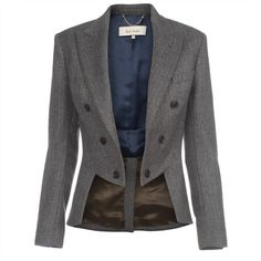 Paul Smith Jackets - Herringbone Tailcoat Jacket ($1,000) ❤ liked on Polyvore
