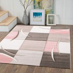 now on eboutic. Rose Pastel, Pink Carpet, Decoration, Flooring, Living Room, Interior Design, Rugs, Inspiration, Furniture