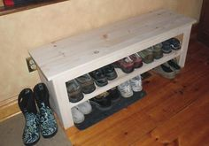 Porch shoe bench
