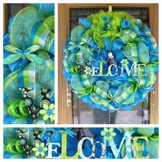 Spring Deco Mesh Wreath.
