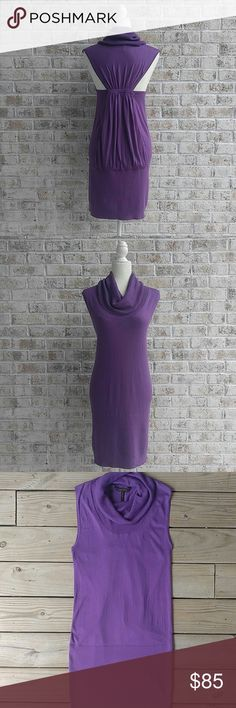 "BCBGMAXAZRIA Silk Blend Sweater Dress In good condition! It does have a few small pulls on the bottom section. It has 43% silk so it's super soft! Shoulder to hem is 35"" Armpit to armpit is 16""  Love the item but not the price? Please make an offer!  Thanks for looking! BCBGMaxAzria Dresses"