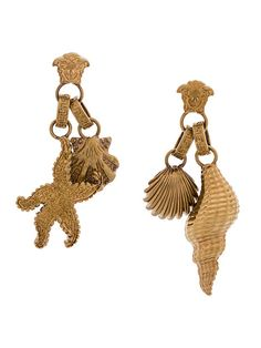 Versace seashell Medusa earrings