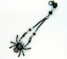 Gorgeous Black Spider Vapor Charm  E Cigarette by FlutterbyCharms