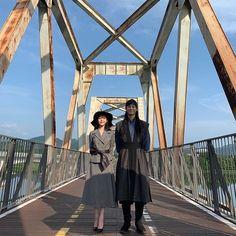 Image may contain: sky, shoes, bridge and outdoor Korean Drama Romance, Korean Drama Movies, Korean Actors, Korean Dramas, Celebrity Couple Costumes, Celebrity Couples, Luna Fashion, Best Kdrama, Kdrama Actors