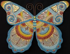 "Irina Charny ~ 'Bright', 29"" x 23""; glass, porcelain, beads, millefiori, gold, copper wire; 2008"