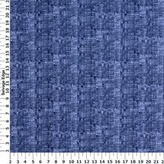 Absolutely Denim Check Navy Cotton Fabric