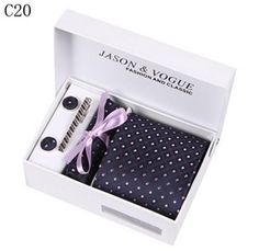Men's Ties Purple Woven Sets Holiday Gift Box