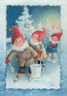 special noel - Page 3 Swedish Christmas, Christmas Gnome, Scandinavian Christmas, Christmas Art, Illustration Noel, Illustrations, Baumgarten, Childrens Christmas, Funny Drawings