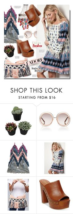 """Seaside-boutique.com: The new boho"" by hamaly ❤ liked on Polyvore featuring Chloé, Madden Girl, women's clothing, women, female, woman, misses, juniors, ootd and dresses"