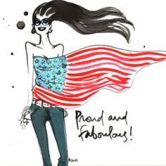 Izak Zenou - Proud & Fabulous - fashion illustration