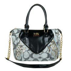 48803f4bd4d6 Coach Black Gray Totes Discount Designer Handbags