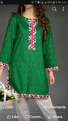 Simple Pakistani Dresses, Pakistani Fashion Casual, Pakistani Dress Design, Girls Dresses Sewing, Stylish Dresses For Girls, Casual Dresses, Designs For Dresses, Dress Neck Designs, Blouse Designs