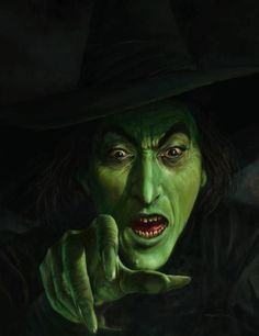 Wicked Witch, Wizard of Oz, fan art, Halloween, film Retro Halloween, Halloween Pictures, Holidays Halloween, Halloween Crafts, Happy Halloween, Halloween Witches, Halloween Humor, Halloween Decorations, Halloween Makeup