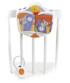 Fisher-Price Discover 'n Grow Storybook Projection Soother by Fisher-Price. $35.32. Music will play for up to 20 minutes. As mom or baby turn the pages of the story book they will get the corresponding images and music. This soother offers projection, music and a night light to help soothe baby to sleep. Includes four vocal stories Hey Diddle Diddle, Hickory Dickory Dock, Twinkle Twinkle Little Star, and Rockabye baby. Each story has two projected images that will alternate. From...