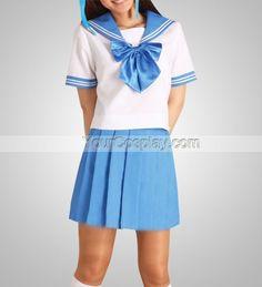 Blue Short Sleeves School Uniform