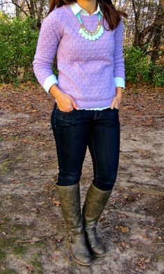 a journey in style: winter pastels. Have this same sweater in a different color. Don't know why i haven't layered it up before!