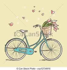 Stock Illustration of Vintage bicycle with flowers - Search Clip Art, Drawings, Fine Art Prints, Illustrations, and Vector EPS Graphics Images - Brother Innovis, Bicycle Drawing, Bicycle Tattoo, Bike Art, Vintage Bicycles, Vintage Bicycle Art, Vintage Images, Art Images, Vector Art