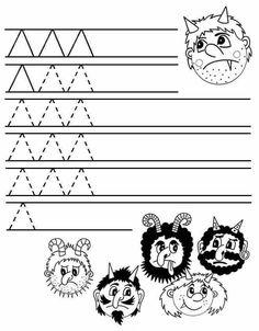 Preschool Math, Preschool Worksheets, Kindergarten, Winter Christmas, Christmas Time, Christmas Crafts, Advent, Fun Crafts, Crafts For Kids