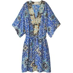 Sea Tile Paisley Kaftan ($575) ❤ liked on Polyvore