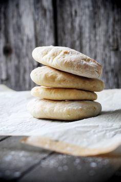 homemade pita bread.  (via Recipe: Homemade Pita Bread Pockets for the Bread Machine | Dine and Dish)