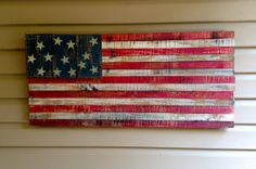 Rustic American Flag Painted wooden American flag by JaJasBoutique, $65.00