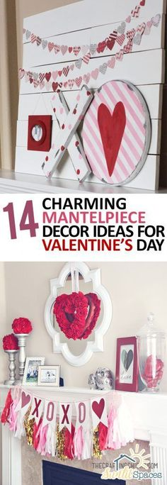 14 Charming Mantelpiece Decor Ideas for Valentines Day  Valentines Day Decor, Mantelpiece Decor, Mantelpiece DIYs, Holiday Home, Holiday Home Decor #ValentinesDay #HolidayHome
