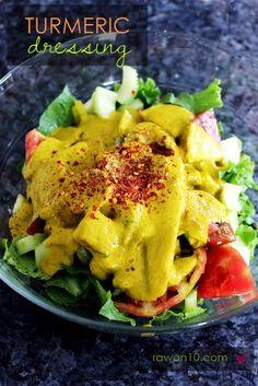 Raw on $10 a Day (or Less!): Turmeric Dressing: Raw Food Recipe  #kombuchaguru #rawfood Also check out: http://kombuchaguru.com