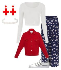 """""""Loka 28/06"""" by rebecachaves on Polyvore featuring New Look, adidas Originals, MSGM, Yazbukey and Jennifer Fisher"""