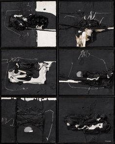 MANOLO MILLARES Abstract Expressionism, Abstract Art, Alberto Burri, Tachisme, Spanish Painters, Contemporary Artists, Textile Art, Mixed Media, My Arts