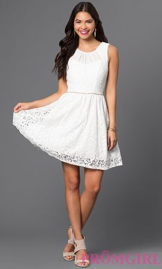 Short Lace A-Line Graduation Dress Style: CT-3177V50G
