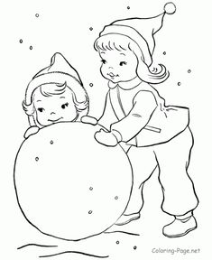 Winter snow fun picture to color. These free, printable winter coloring sheets and pictures are fun for kids! Bible Coloring Pages, Coloring Sheets, Coloring Apps, Coloring Books, Coloring Pictures For Kids, Coloring Pages For Kids, Winter Colors, Winter Fun, Winter Snow