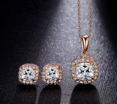Buy Square CZ Diamond Rose Gold Jewelry Set from Casualbugtech, with FREE Estimated Delivery Time:12-20days Item Type:Jewelry Sets Fine or Fashion:Fashion..