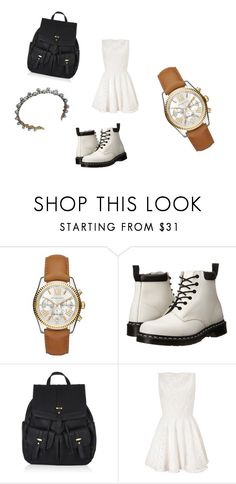 """""""I dont want to waste MY time"""" by feedbacker1 ❤ liked on Polyvore featuring Michael Kors, Dr. Martens, Accessorize and Lipsy"""