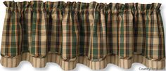 Scotch Pine Lined Layered Curtain Valance