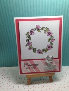 """Welcome to the Close To My Heart Stamp of the Month Blog Hop featuring the stamp set """"Hello Foxy"""".  which will only be available until June..."""
