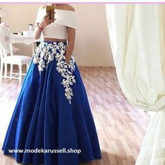 Charming Royal Blue Prom Dresses Formal Evening Gowns Arabic 2016 Special Occasion Dress A Line Off Shoulder White Appliques Party Celebrity Maxi Dresses Dress From &Price; Royal Blue Prom Dresses, Prom Dresses Long With Sleeves, Homecoming Dresses, Dress Prom, Dress Long, Party Dress, Trendy Dresses, Nice Dresses, Formal Dresses
