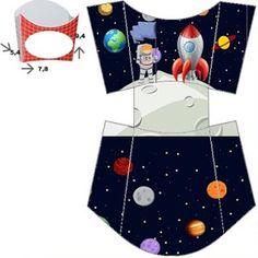 Fábrica de Sonhos: Caixinhas Astronauta - 1 Space Party, Space Theme, Rocket Ship Party, Diy And Crafts, Paper Crafts, Creative Workshop, Sons Birthday, Diy Box, Digi Stamps