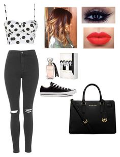 """""""Untitled #103"""" by emmaruus on Polyvore featuring Topshop, Converse and MICHAEL Michael Kors"""